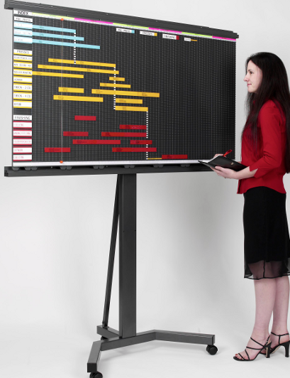 Mobile Display Stand -Convert wall mounted Magnetic Planning Systems to a free-standing