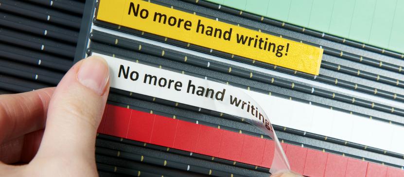 No more handwritten text plates!