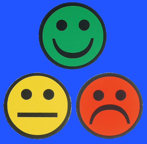 Magnetic Face Indicators, happy, sad or neutral
