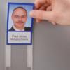 Magnetic backed Mini-Portrait Pockets, portrait, transparent