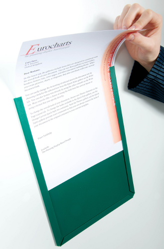 Magnetic backed Document Display Pocket, A4 portrait, green