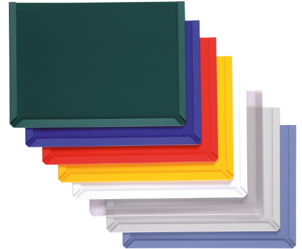 Hook & Loop backed Document Display Pockets, colour range
