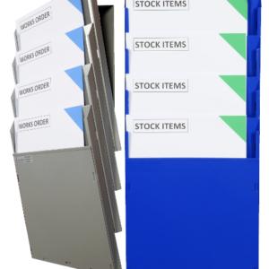Single colour A4 Cascading Racks (Racks shown 2 x ref CDUA4P4)