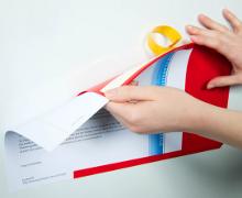Adhesive Document Pockets Index