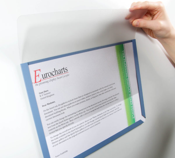 A4 Transparent Cover Inserted into A4 Document Pocket