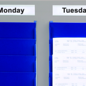 Cascading Racks in blue, with magnetic Rack Headers