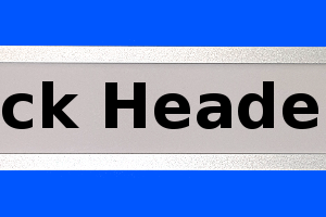 Adhesive or magnetic backed Rack or Document header