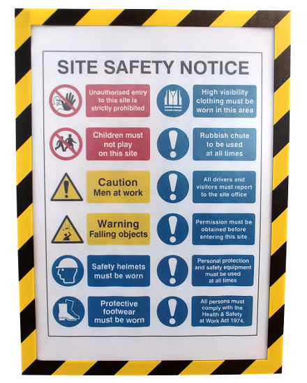 Hazard Printed Document Shields (A4)
