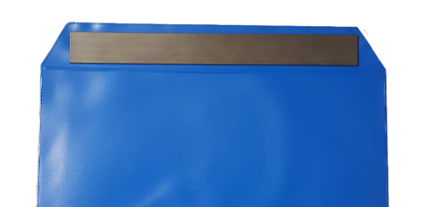 Strip magnet attachment for PVC hanging wallet