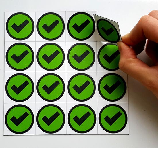 Magnetic Kiss-Cut Indicators, remove by hand