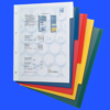 Mixed colour Plastic file dividers