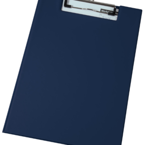 A4 Privacy Clipboard, blue, cover closed