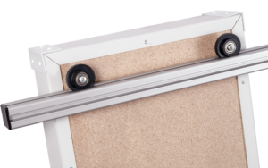 Rotating Document Rack: rail mounting mechanism