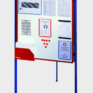 Free Standing Visualisation Board System, closed formation