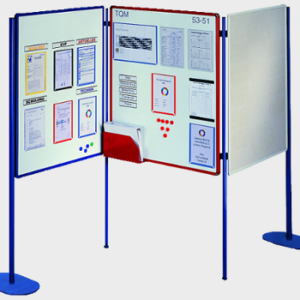 Free Standing Visualisation Board System, expanded formation