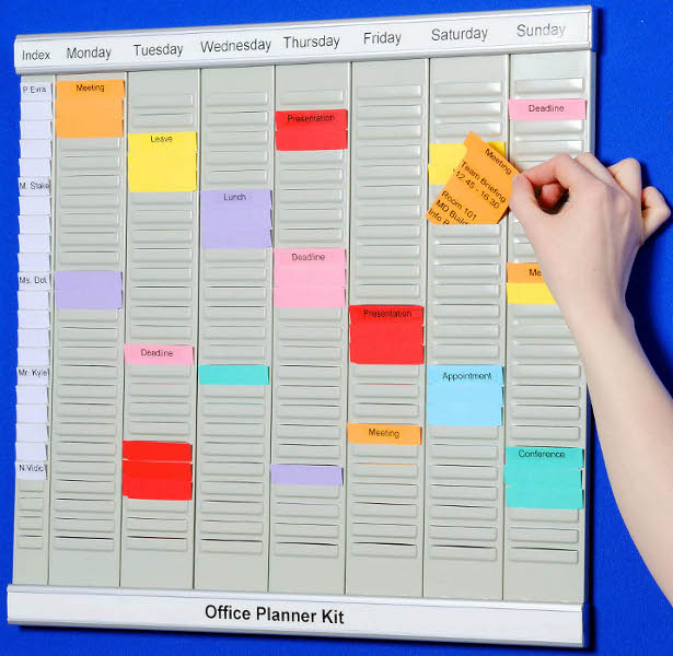 Office Planner T-Card Kit (29112), example application