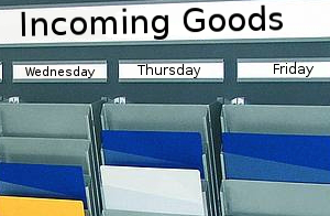 Cascading Rack Board System, incoming goods application