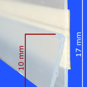Adhesive backed Channel Strips, profile & dimensions