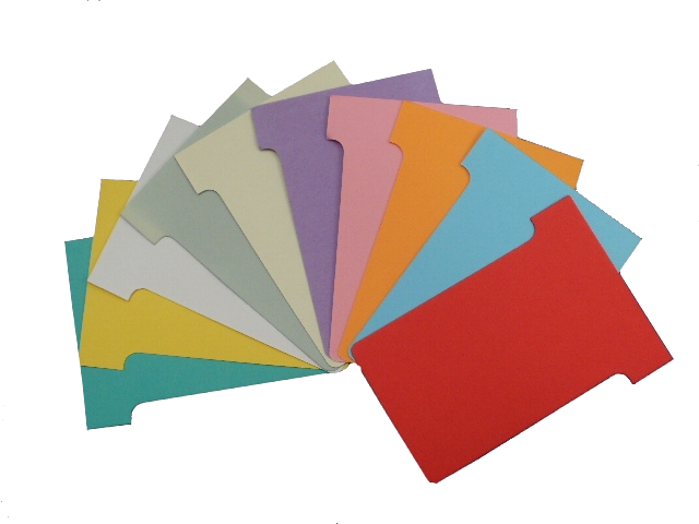 T-Cards, colour swatch