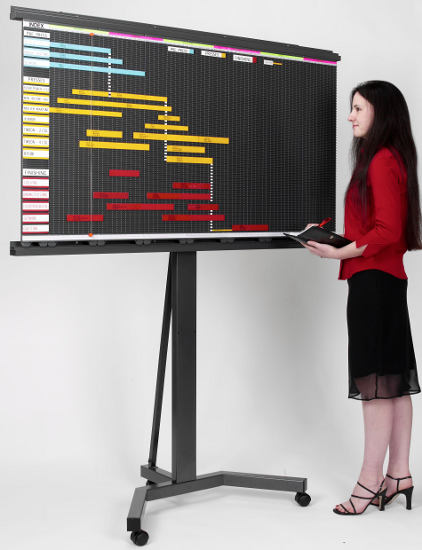 Magnetic Planning Board Mobile Display Stand (MST)