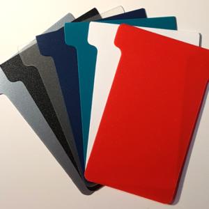 Plastic T-Cards, colour swatch (Size 2 shown)