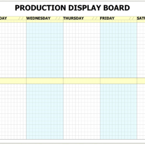 MPWB-7D - 7 Day Printed Production Whiteboard Kit