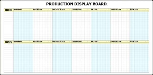 MPWB-14D - 14 Day Printed Production Whiteboard Kit