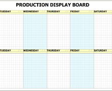 Production Scheduling Printed Whiteboard Kits