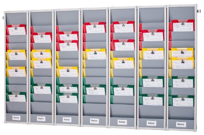 Seven day, rail mounted, Rotating Document Rack Kit