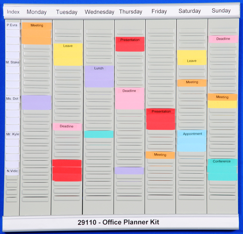 Office Planner T-Card Kit (29112), size 2