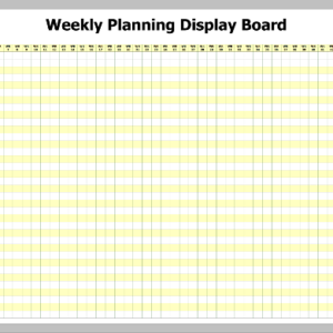 WPWB-52 – Weekly Planning pre-printed Whiteboard