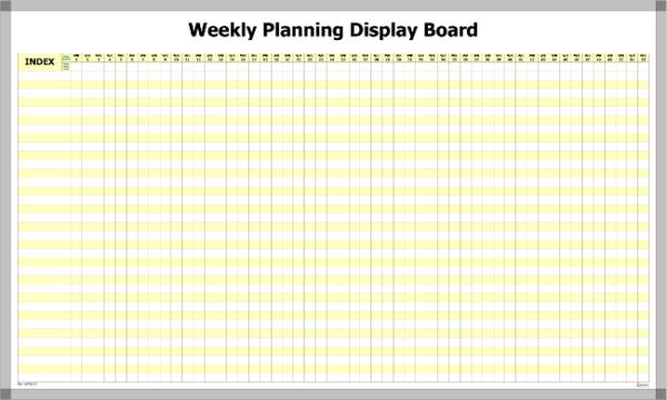 WPWB-52 – Weekly Planning pre-printed Whiteboard