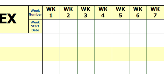 WPWB-52 – Weekly Planning printed Whiteboard Scale Example