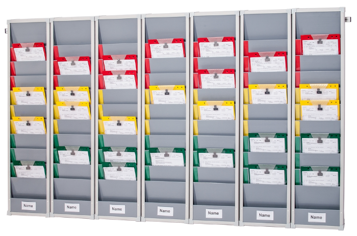 Rotating Document Rack kit, 7-day, rail mounted