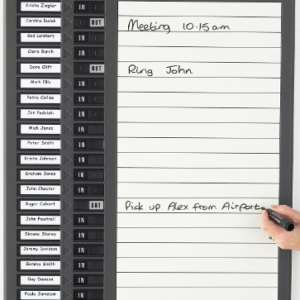 Dry-Wipe Message In/Out Board, 20 name capacity