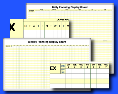 Personnel Planning Whiteboard kits, full range