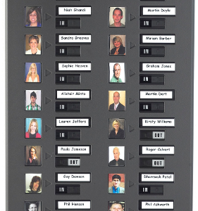 Photo In/Out Board, 20 name capacity