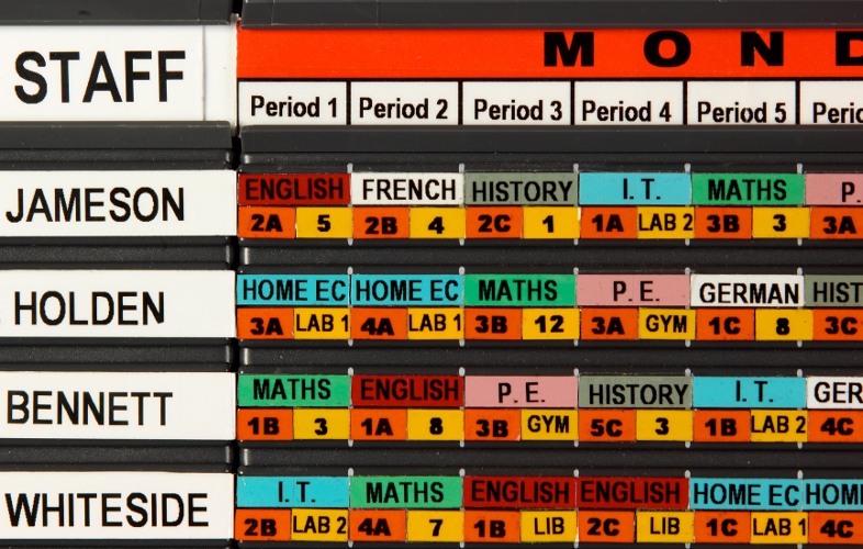 Magnetic Timetable Board – Staff Schedule