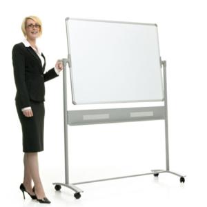 Revolving Mobile Whiteboard -plain surface
