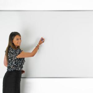 Wall mounted Whiteboard – plain surface
