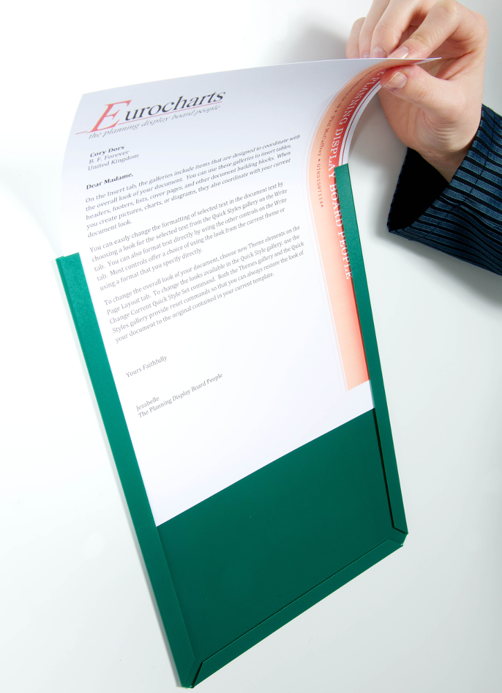 Document Display Pocket Loading A4 Green