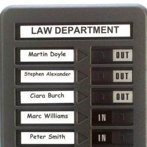 Standard In Out Board, 10 name Capacity, Cropped
