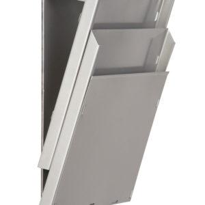 Magnetic Backed Cascading Rack, 2 Pocket Depth, Grey ALu