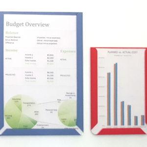 Document Display Pockets, Size A4, A5, A6, Portrait