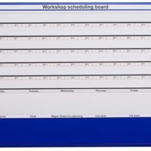 MK1 Workshop Scheduling Board, 5 station, Unloaded