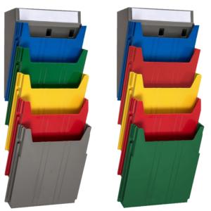 Extra Capacity Rainbow Document Racks - unloaded