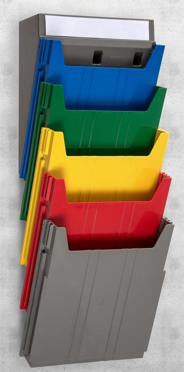 Extra Capacity Rainbow Document Rack - unloaded
