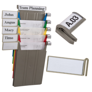 Rainbow Rack Name and Index Clips - Small & Large