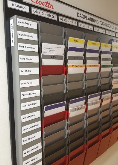 Cascading Display Rack System Example Application - Day Planning