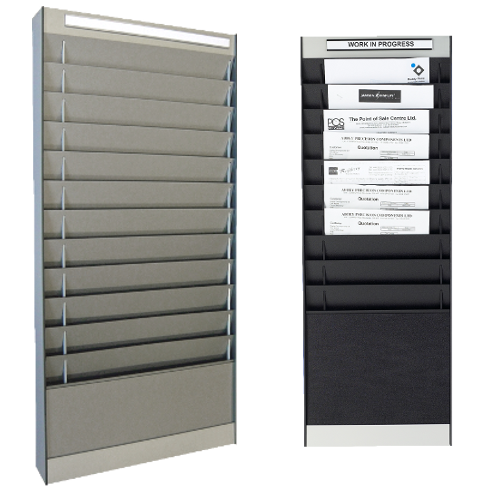 Document Storage Panels Black And Silver